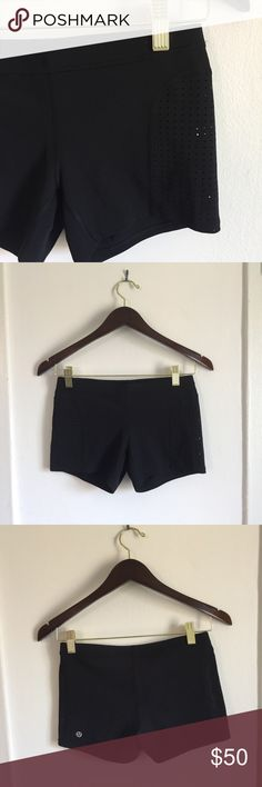 Lululemon Tight Shorts with Mesh Detail Never worn. Brand new. Just too small for me lululemon athletica Shorts