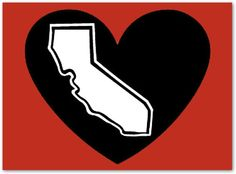 The Original Classic The California Blackheart Decal - pinned by pin4etsy.com