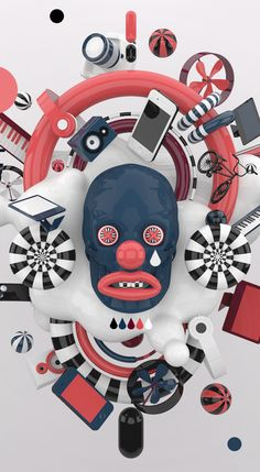 big things in a small head. by Mateusz Krol, via Behance