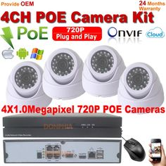 208.70$  Watch now - http://ali8fm.worldwells.pw/go.php?t=32715688726 - 4CH 720P PoE NVR HD Security Camera System with 4 Indoor IR Night Vision 720P Onvif POE P2P IP Security Cameras Plug and play 208.70$