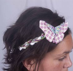 Headband papillon liberty
