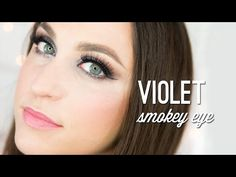 Purple violet smokey eye- Wake Up For Makeup -