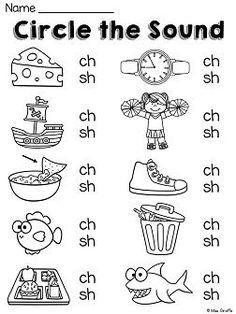 Digraph Worksheet for Kindergarten Jolly Phonics, Teaching Phonics, Phonics Worksheets, School Worksheets, Phonics Activities, Preschool Learning, Reading Activities, Kindergarten Worksheets, Teaching Reading
