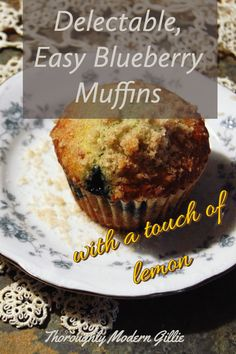Blueberry season is upon us. Fresh blueberries are the best but they cook up beautifully. The muffins are quick and easy. They have a touch of lemon to compliment the blueberries and have a crunchy streusel topping for extra yum! #blueberry #blueberries #muffins #easymuffins #blueberryandlemon