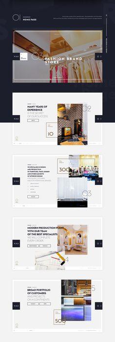 New Fashion Portfolio Behance Web Design Ideas