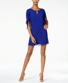 Jessica Howard Petite Keyhole Shift Dress - Dresses - Women - Macy's