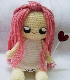 Amigurumi :: Little angel crochet doll pattern