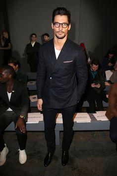 David Gandy at the Topman Men's Fashion Week show.