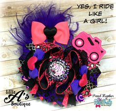 Ride like a girl bow Yes I ride like a girl by LittleAsBowtique