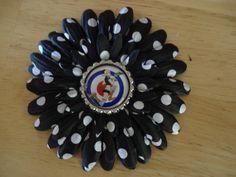 Tank Girl Flower Hair ClipPa Pa Pa Pow4 Inch by Emmandjensflowers, $5.00