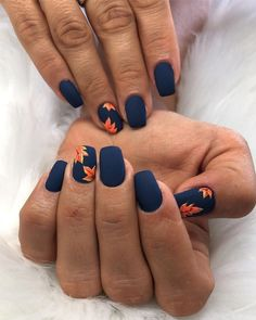 42 Outstanding Fall Nails Designs Ideas That Make You Want To Copy Fr. - 42 Outstanding Fall Nails Designs Ideas That Make You Want To Copy French manicures are - Classy Nail Designs, Fall Nail Art Designs, Colorful Nail Designs, Fall Designs, Autumn Nails, Winter Nails, Spring Nails, Summer Nails, Fall Nail Art Autumn