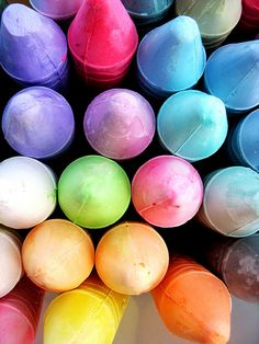 sidewalk chalk  #colors #abstract