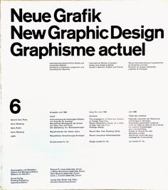 Past Print: New Graphic Design / issue 6 / June 1960