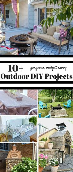 10+ budget savvy DIY Outdoor Projects from the DIY Housewives. Awesome ideas for outdoor entertaining and more!