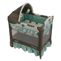 Your baby will sleep in comfort while you are on the road when you use this durable Graco Travel Lite crib. It comes with a canopy that will help shield your baby's eyes from the light, and the crib easily converts into a portable play yard.
