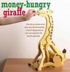 31-DP-00427 - Money Hungry Giraffe Bank Downloadable Woodworking Plan PDF