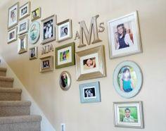 Fotogalerij naast de trap