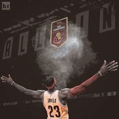LeBron fulfilled his promise of raising a banner in Cleveland