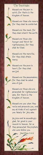 """To live by: """"Blessed are the meek for they shall inherit the Earth."""" """"Blessed are the pure in heart for they shall see God."""" The Beatitudes - Matthew Cross Stitch Designs, Cross Stitch Patterns, Matthew 5 3, New Creation In Christ, Blessed Are Those, Beatitudes, Kingdom Of Heaven, Favorite Bible Verses, Cross Stitching"""
