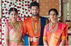 South Indian wedding. Groom fashion. Silk saree. Gold jewellery. Sherwani.