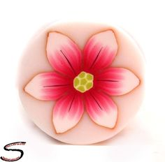 Polymer Clay Flower cane  Millefiori Red Fuchsia Pink by sigalsart, $6.90