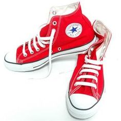 red hi-top chucks
