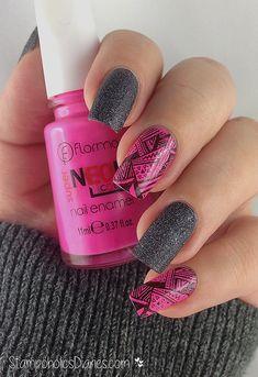 Neon Aztec Nails nail art by Natasha