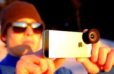 The Moment iPhone Lens Kit has been designed to offer both a telephoto or wide-angle lens for iPhone users to use with the lenses easily attaching to a magnetic metal plate which is attached to your iPhone around the lens and flash.   Geeky Gadgets