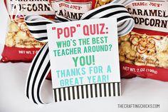 Popcorn Teacher Gift