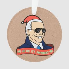 Funny President Joe Biden in Sunglasses Christmas Ornament - tap to personalize and get yours #Ornament #joe #biden #gifts, #funny, #the Best Christmas Gifts, Christmas Elf, Christmas Tree Ornaments, Christmas Cards, Christmas Decorations, Joe Biden, Joe Cool, How To Make Ribbon, Family Memories