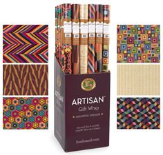 Lion Brand came out with wrapping paper inspired by our many afghan patterns.  Check out the designs and give a gift a handmade touch - inside and out!