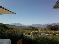 View from Jordan Wine Farm- 30 minutes from La Clé des Montagnes