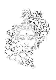Unique Tattoos, Cute Tattoos, Art Drawings Sketches, Tattoo Drawings, Family Tattoo Designs, Red Ink Tattoos, Buddha Tattoos, Desenho Tattoo, Buddha Art