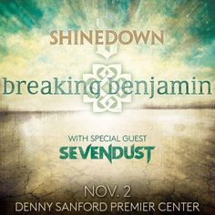 Sioux Falls SD! Its your turn to see @Shinedown tonight...