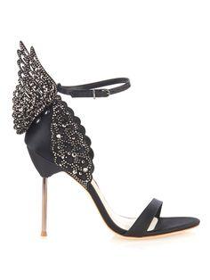 Evangeline angel-wing satin sandals    Sophia Webster   MATCHESFASHION.COM US
