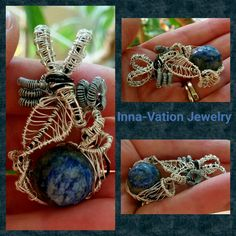 My lapisberry - #wire #wrapped #lapis #pendant.