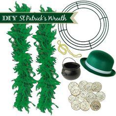DIY St Patricks Day Wreath Instructions #stpattys