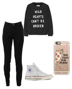 """""""Pizza is the way to my Heart"""" by ashtonsgirl-5soslover on Polyvore featuring Zoe Karssen, Victoria Beckham, Converse and Casetify"""