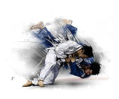 Judo throw art drawing