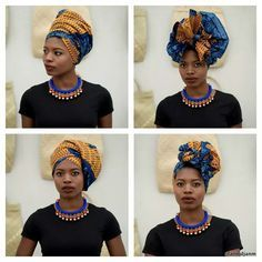 In the headwraps became a central accessory of Black Power's rebellious uniform. Headwrap, like the Afro, challenged accepting a style once used to shame African-Americans. African Beauty, African Fashion, African Women, Style Turban, Hair Wrap Scarf, Style Africain, Head Scarf Styles, African Head Wraps, Beautiful Black Girl