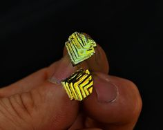 Summer Feathers  Iridescent Bismuth Crystal Stud by Element83, $29.95