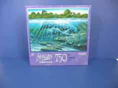 Seascapes 750 Piece Jigsaw Puzzle Manatee Gentle Giants #MB