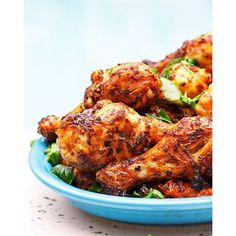 This easy Moroccan-inspired recipe for grilled chicken drumsticks will be your new favorite! W/ a spicy marinade of garlic, harissa, lime juice, olive oil. Chicken Lunch Recipes, Chicken Drumstick Recipes, Grilled Chicken Recipes, Seafood Recipes, Cooking Recipes, Grilled Chicken Drumsticks, Yogurt Marinated Chicken, Healthy Finger Foods, Healthy Recipes