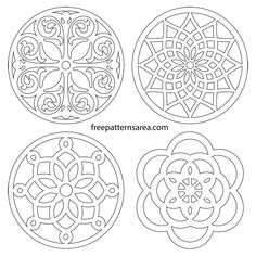 Printable Free Scroll Saw Trivet Coaster Patterns