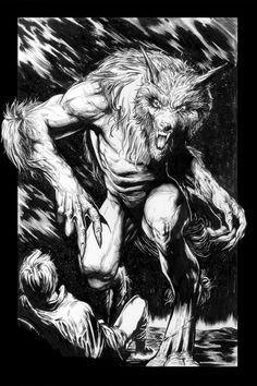 werewolf by atagunilhan on DeviantArt Mythological Creatures, Mythical Creatures, Weird Creatures, Apocalypse, Dark Fantasy, Fantasy Art, Werewolf Art, Werewolf Legend, Bark At The Moon