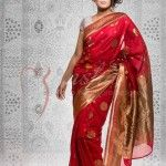 Red Saree Valentine's Day Collection 2014 By Mansha Boutique