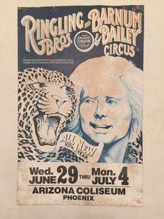 Vintage Ringling Brothers Barnum and Bailey Circus Poster Phoenix Coliseum AZ    eBay