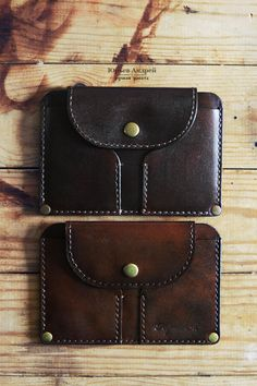 Leather handmade cardholder