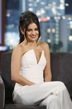 SELENA GOMEZ at Jimmy Kimmel Live in Hollywood