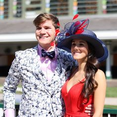 Coordinating couple outfits for the Kentucky Derby! Kentucky Derby Fashion, Couple Outfits, Cowboy Hats, Photo And Video, Couples, Instagram, Couple
